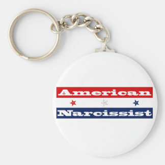 American narcissist (stars and stripes) keychain