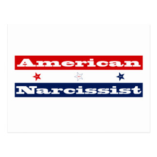 American narcissist (stars and stripes) postcard