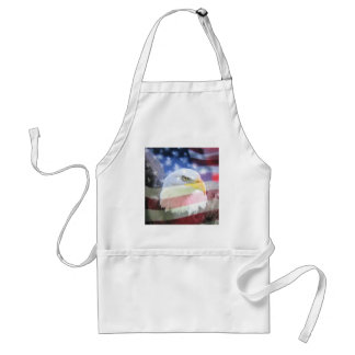 American National Patriotism. The Flag and Eagle. Adult Apron