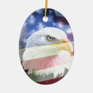 American National Patriotism The Flag and Eagle Christmas Tree Ornament