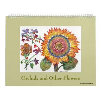 American National Standard de las orquídeas otras Calendario