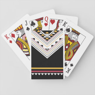 american native geometric pattern background playing cards