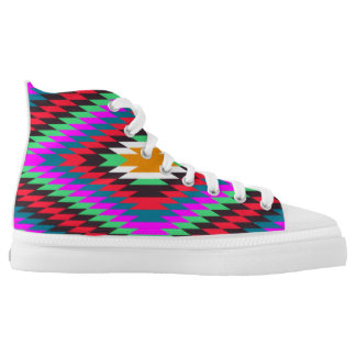 american native indian ethnic traditional geometri High-Top sneakers