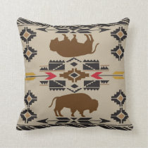 American Native Pattern Throw Pillow