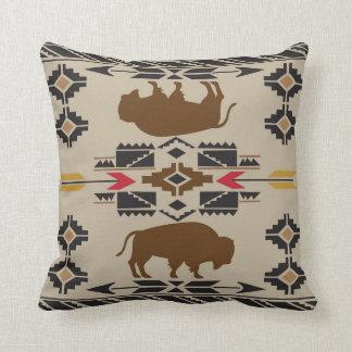 American Native Pattern Throw Pillow
