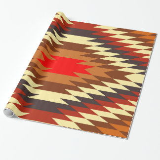 american native traditional ethnic costume motif wrapping paper