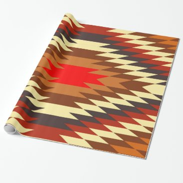 tony4urban american native traditional ethnic costume motif wrapping paper