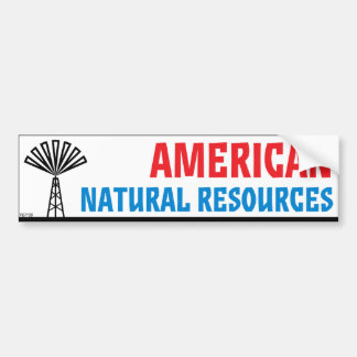 American Natural Resources Bumper Sticker