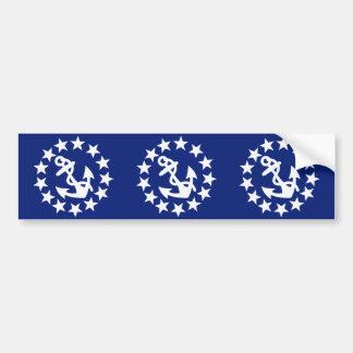 American Nautical Yacht Flag Anchor Stars Blue Bumper Sticker