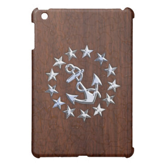 American Nautical Yacht Flag Anchor Stars Decor iPad Mini Cover
