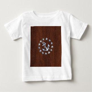 American Nautical Yacht Flag Wet Look Baby T-Shirt