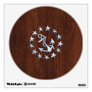 American Nautical Yacht Flag Wet Look Wall Decal
