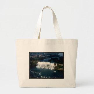 American Niagara Falls: Aerial View from Skylon Large Tote Bag