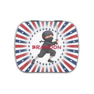 American Ninja Boy Design Party Favor Candy Tin