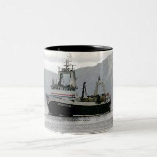 American No. 1, Fishing Trawler in Dutch Harbor Two-Tone Coffee Mug
