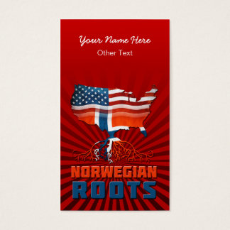 American Norwegian Roots Business Cards