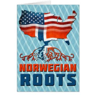 American Norwegian Roots Card