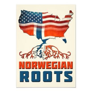 "American Norwegian Roots 5"" X 7"" Invitation Card"