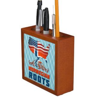 American Norwegian Roots Pencil Holder