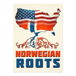 American Norwegian Roots Personalized Invites