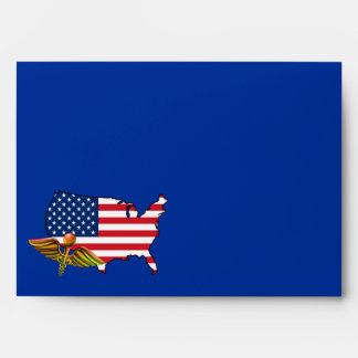 American Nurse. Patriotic Design Envelopes