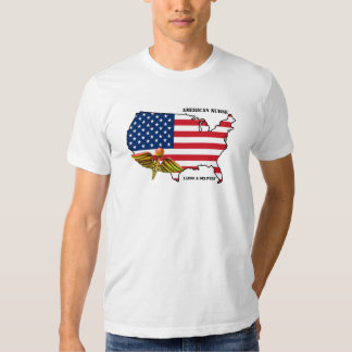 American Nurse. Patriotic Design T-Shirts