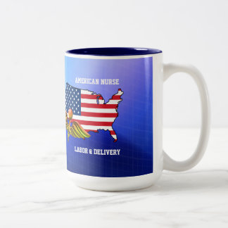 American Nurses. Patriotic Design Gift Mugs