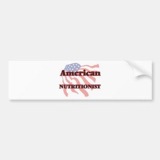 American Nutritionist Car Bumper Sticker