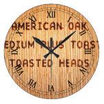 American Oak Wine Barrel Stamp Clocks