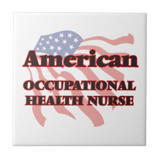 American Occupational Health Nurse Small Square Tile