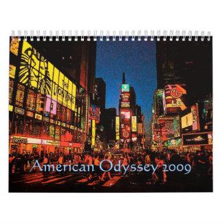 American Odyssey Calendar