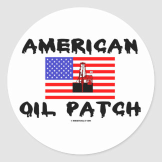 American Oil Patch,Oil Field Sticker,Oil,Rigs Classic Round Sticker