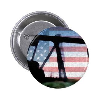 American Oil Pinback Button