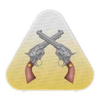 American Old West Revolvers Crossed Vintage Bluetooth Speaker