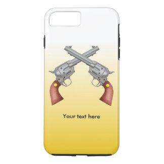 American Old West Revolvers Crossed Vintage iPhone 7 Plus Case