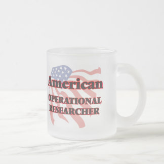 American Operational Researcher 10 Oz Frosted Glass Coffee Mug
