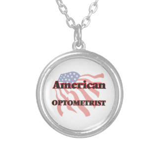 American Optometrist Round Pendant Necklace