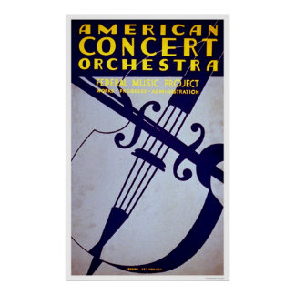 American Orchestra 1936 WPA Print