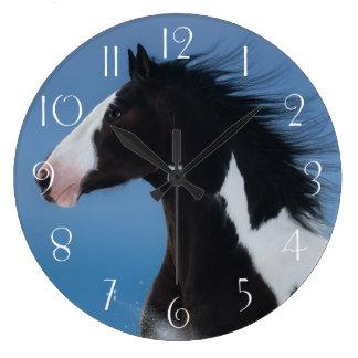 American paint horse large clock