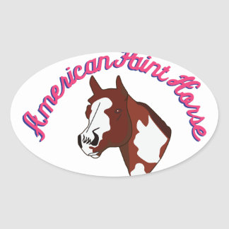 American Paint Horse Oval Sticker