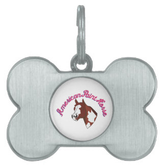 American Paint Horse Pet ID Tag