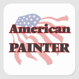 American Painter Square Sticker