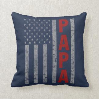 American Papa Throw Pillow