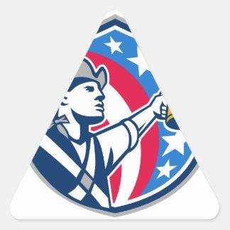 American Patriot Craft Beer Mug USA Flag Crest Ret Triangle Sticker