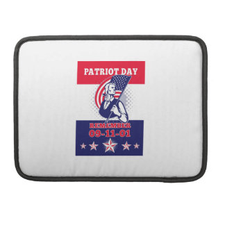American Patriot Day Poster 911 Greeting Card Sleeves For MacBook Pro