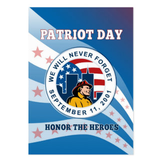 American Patriot Day Remember 911  Poster Business Card Template