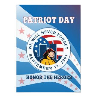 American Patriot Day Remember 911  Poster 5.5x7.5 Paper Invitation Card