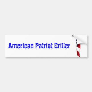 American Patriot Driller Bumper Sticker