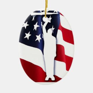 American Patriot Driller Ornament