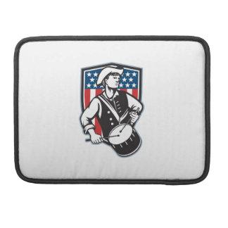 American Patriot Drummer With Flag MacBook Pro Sleeve